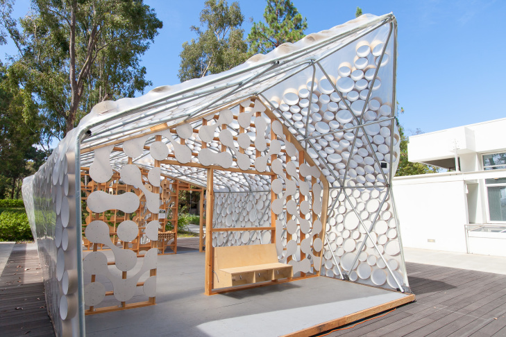 The Bi(h)ome on display at the Broad Art Center at UCLA on Monday, July 20, 2015. It was designed to address the problem of growing housing need in Los Angeles.
