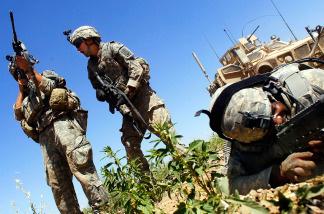 American soldiers in Afghanistan.