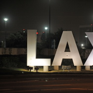 A sign at the entrance of Los Angeles In