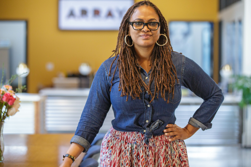 Filmmaker and producer Ava DuVernay at the headquarters of her production company, Array.