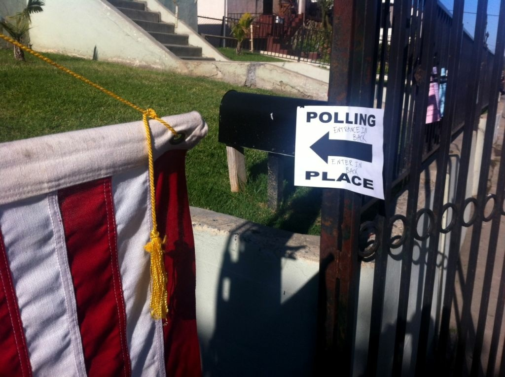 A polling place in Glassell Park on June 5, 2012
