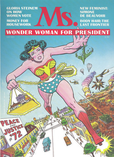 Many feminists of the 1970s, including Gloria Steinem, grew up reading Wonder Woman and considered her an inspiration. In 1972, Ms. magazine put her on the cover.