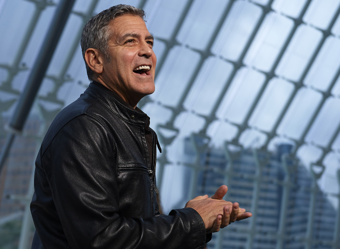 George Clooney attends the premiere of Disney's