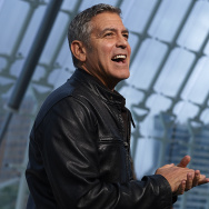 "George Clooney attends the premiere of Disney's ""Tomorrowland"" at the L'Hemisferic on May 19, 2015 in Valencia, Spain."