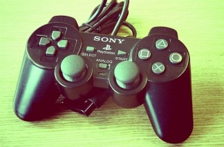 A file photo of a Sony video game controller.
