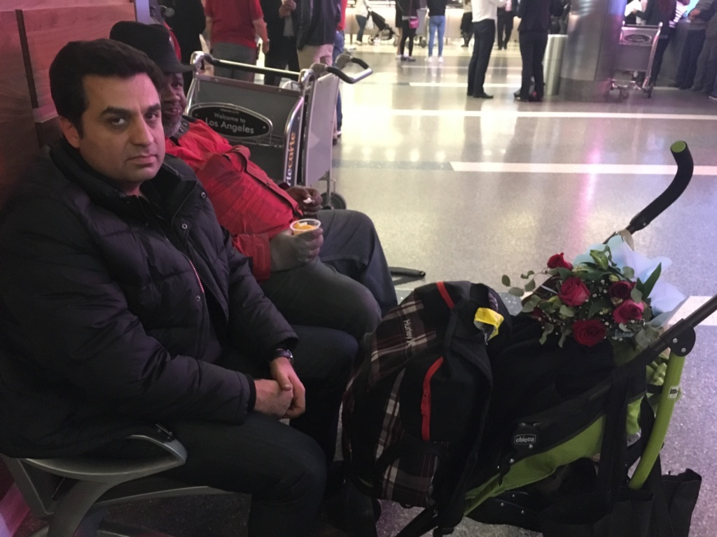 On Saturday, Alireza Farmad of Irvine was returning from Iran after visiting family when federal officials held up his mother, sister and 11-month-old nephew. Farmad, a U.S. citizen, was let go but the women were detained although he said they hold green cards.