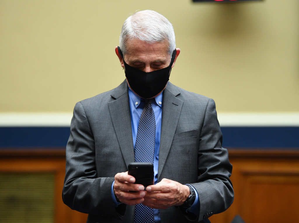 Thousands of pages of Dr. Anthony Fauci's work emails from January to June 2020 have been released via Freedom of Information Act requests by news organizations. Fauci is seen here before he testifies in front of a Senate committee last June.