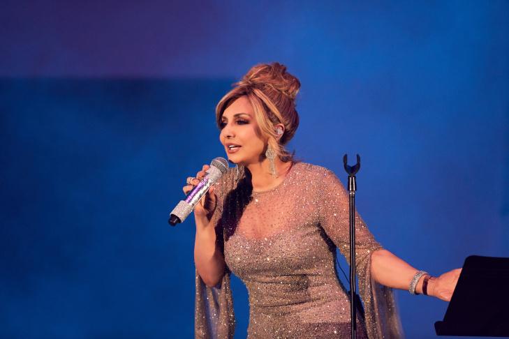 Iranian singing legend Googoosh at the Hollywood Bowl.