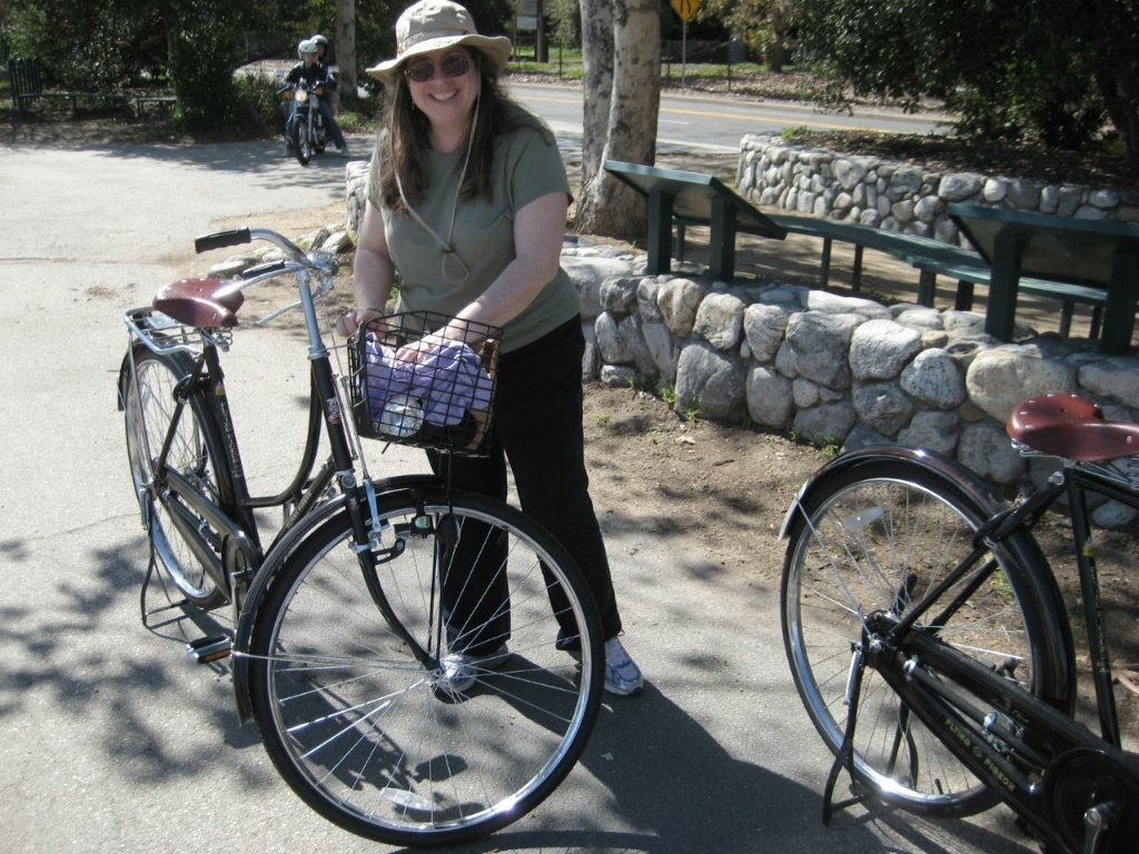 A bicyclist during a tour of the L.A. River.