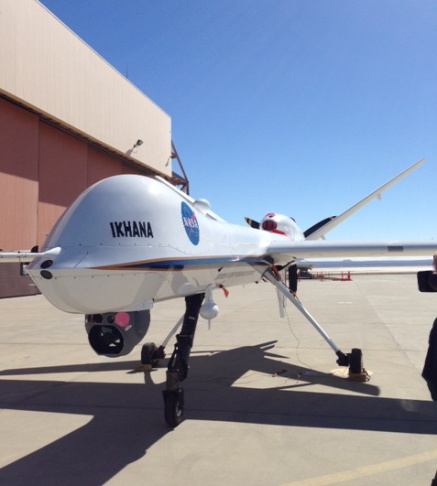 The Ikhana vehicle parked at the Dryden Flight Research Center in Palmdale.