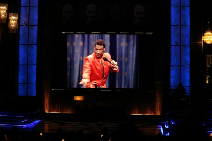 Stevie Wonder and honoree Eddie Murphy peform onstage at Spike TV's 'Eddie Murphy: One Night Only' at the Saban Theatre on Nov. 3, 2012 in Beverly Hills.