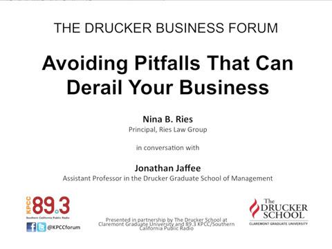 Drucker: Avoiding Pitfalls That Can Derail Your Business