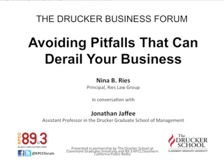 Drucker: Avoiding Pitfalls That Can Derail Your Business