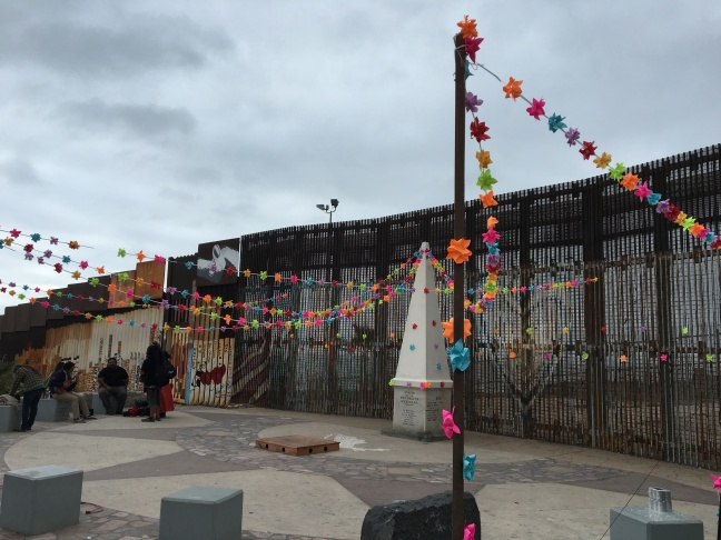 Image from the annual musical celebration known as Fandango Fronterizo at the border fence between the San Diego in the U.S. and Tijuana, Mexico.