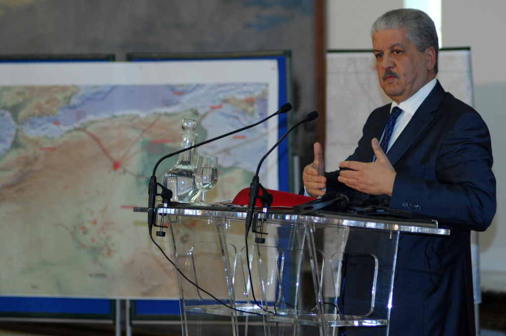 Algerian Prime Minister Abdelmalek Sellal speaks during a press conference in Algiers on January 21, 2012, where he warned other nations to prepare for a higher body count after a four-day siege of a gas plant by Islamist militants ended in a bloodbath, amid fears as many as 50 hostages may have died.