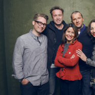 "(L-R) Archival producer Austin Wilkin, director Stevan Riley, Rebecca Brando, producer John Battsek and Aura Douglass of ""Listen to Me Marlon"" pose for a portrait at the Village at the Lift Presented by McDonald's McCafe during the 2015 Sundance Film Festival on January 26, 2015 in Park City, Utah."
