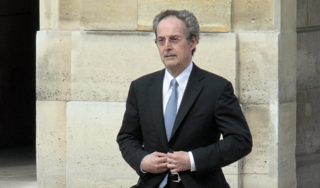 President of the California Institute of Technology Jean-Lou Chameau arrives at the Elysee Palace for a meeting with French President Nicolas Sarkozy on April 9, 2010 in Paris.