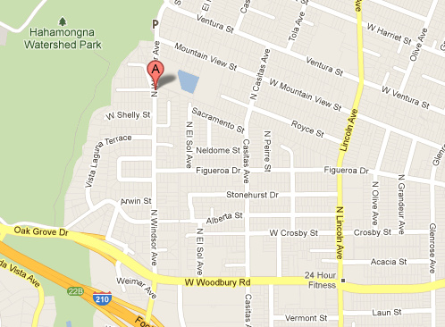 A burning body was found on the 2600 block of Windsor Avenue in Altadena.