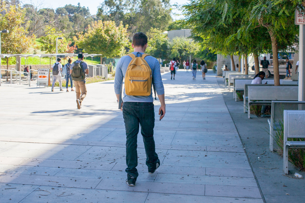 Students walk on campus at West Los Angeles College in Los Angeles, Calif. on Thursday, Nov. 3, 2016.