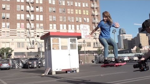HUVr Tech's video claiming to depict real hoverboards. (Hint: They're not.)