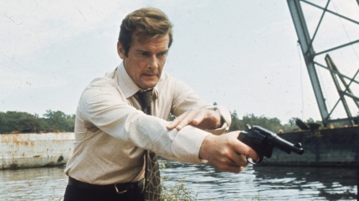 Roger Moore — seen here filming Live and Let Die, his debut as James Bond — described his most famous role as