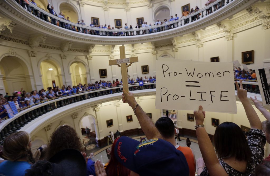 File: Texas, where abortion-rights battles took place in July at the state capitol, is part of an eight-state region that has gotten more conservative on the issue.