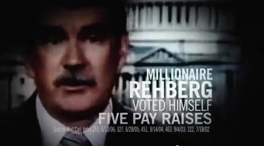Screen shot of a political ad featured in the PBS Frontline special