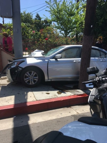A 16-year-old driver under suspicion for a DUI crashed into a pole Thursday morning.