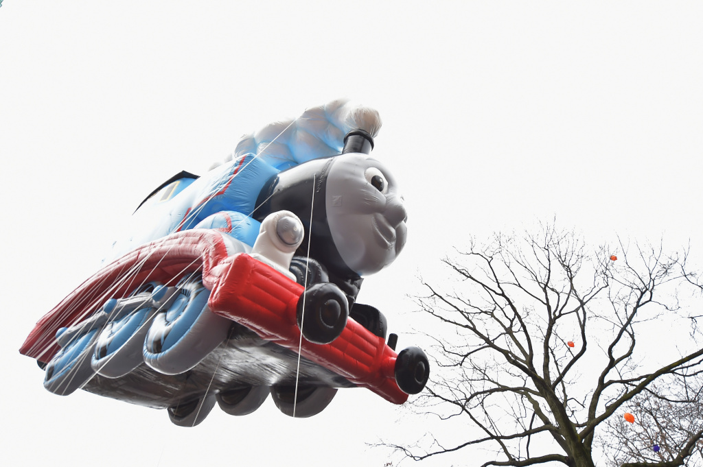 The Thomas the Tank Engine balloon passes by during the 88th annThomas the Trainual Macy's Thanksgiving Day Parade on November 27, 2014 in New York City.