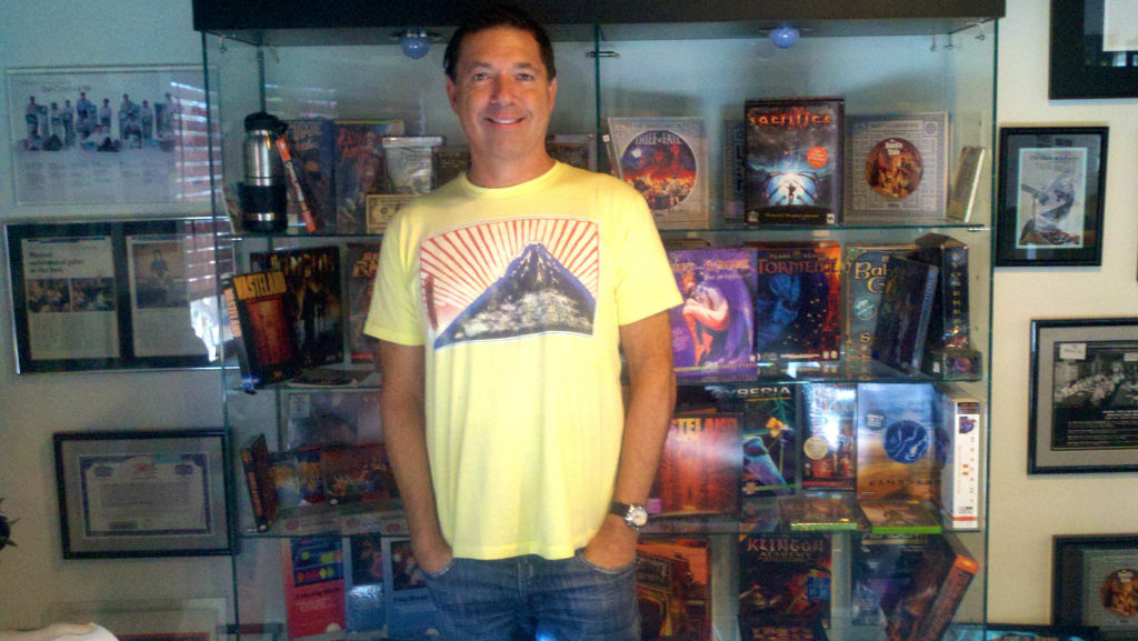 Brian Fargo, CEO/Leader in Exile of Newport Beach-based inXile Entertainment, which raised millions on Kickstarter.