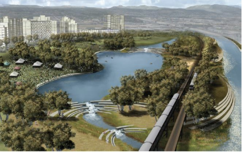 This rendering of the lower L.A. River shows a proposed