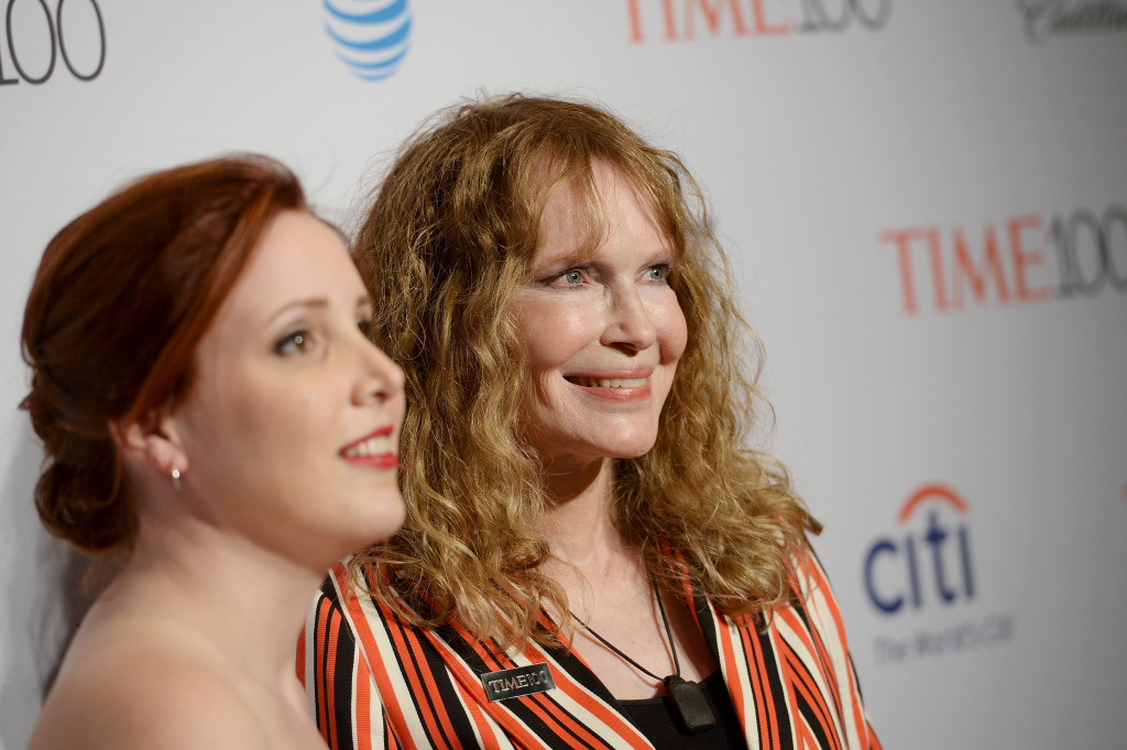 Dylan Farrow (left) and  Mia Farrow attend the 2016 Time 100 Gala, Time's Most Influential People In The World event on April 26, 2016 in New York City.
