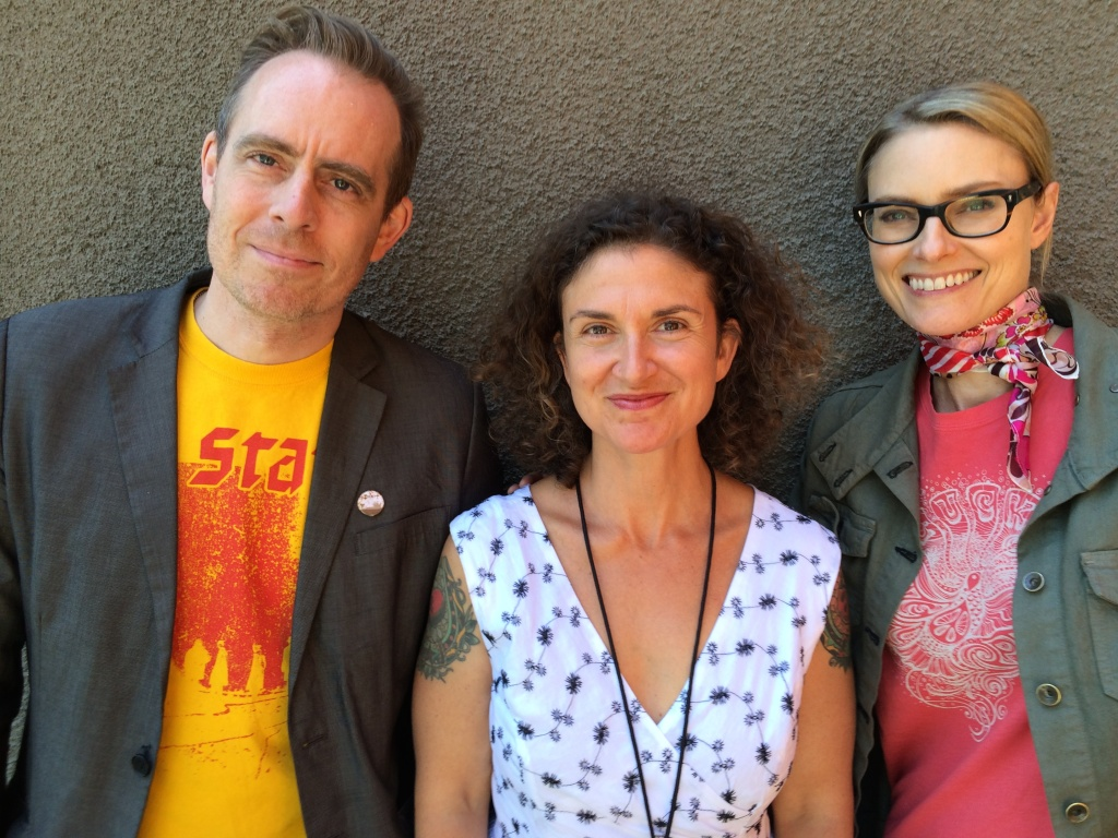 Ted Leo (L) and Aimee Mann (R) get together with Alex Cohen (C) to discuss their new album