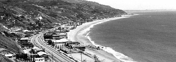 The Malibu coastline in the mid-80s: a tranquil spot for a tumultuous issue.