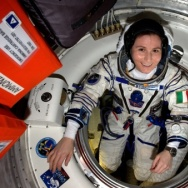 European Space Agency astronaut Samantha Cristoforetti aboard the International Space Station