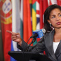 US United Nations Ambassador Susan Rice Speaks To The Press After Meeting On Syria