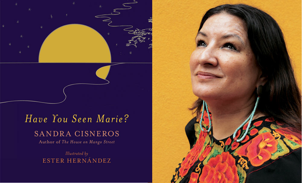 Author Sandra Cisneros and the cover of her new book