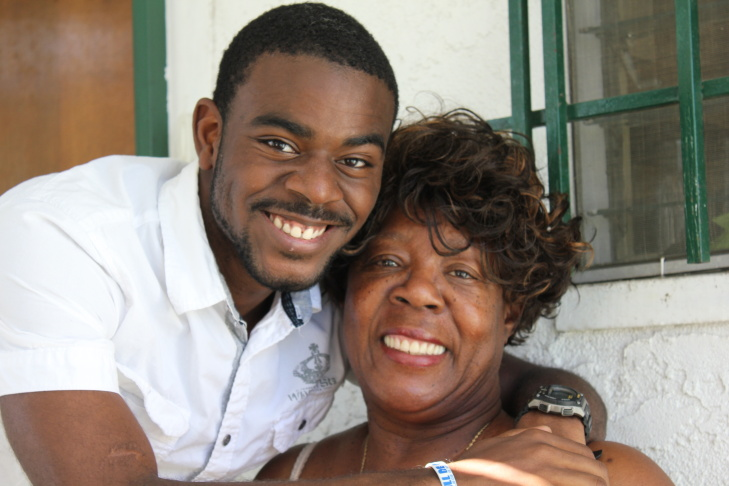 Tyris and his grandma, Christine Williams.