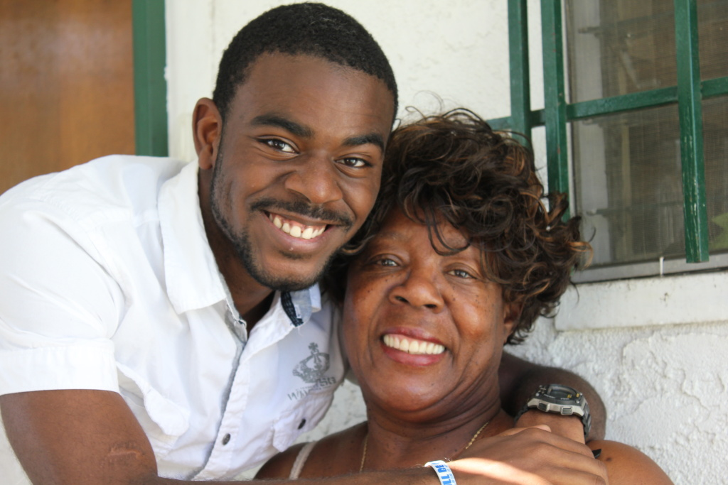 Tyris and his grandma, Christine Williams. They're both working hard to get the Crenshaw High grad through UC irvine.