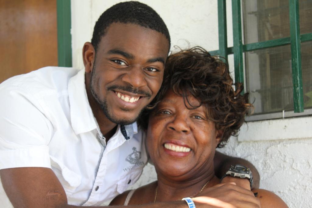 Tyris and his grandma, Christine Williams. They're both working hard to get the Crenshaw High grad through UC irvine.