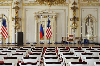 Spain Hall of the Prague Castle during the preparation ahead of a meeting, scheduled on April 8, 2010 in Prague, with US President Barack Obama and leaders of several former Soviet-bloc countries to sign a nuclear disarmament treaty with Russia.