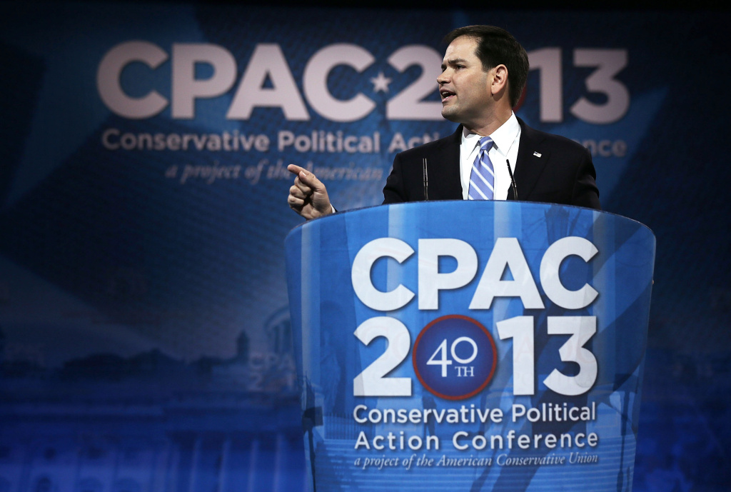 U.S. Sen. Marco Rubio (R-FL) addresses the 40th annual Conservative Political Action Conference (CPAC) March 14, 2013 in National Harbor, Maryland.