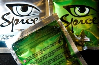 A selection of the 'Spice' stimulants is pictured in a shop in north London, on Aug. 28, 2009. The US Senate Caucus on International Narcotics Control is investigating the growing use of 'Spice' and other synthetic drugs, which are growing in popularity.