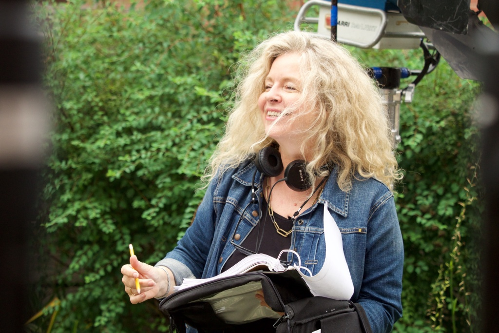 Filmmaker Patricia Rozema on the set of her new movie,