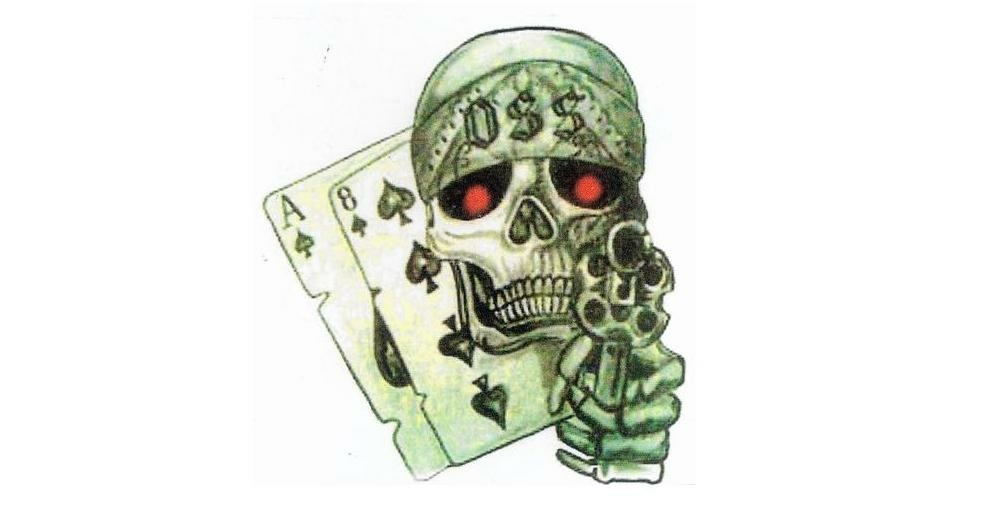 "The group is allegedly called the ""Jump Out Boys"" and its members are suspected of identifying themselves with a set of matching tattoos that depict a skull, a pair of playing cards and a pistol – the latter of which included a smoking barrel after the officer is involved in a shooting."