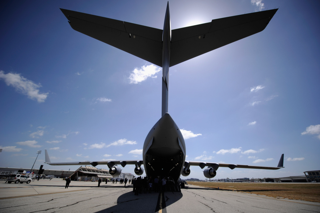 C-17 cargo jet production in Long Beach was scheduled to end in late 2015.  Now, Boeing says it's likely to come three months sooner.