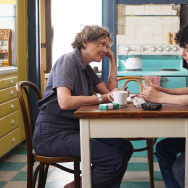 "Annette Bening and Lucas Jade Zumann in ""20th Century Women."""