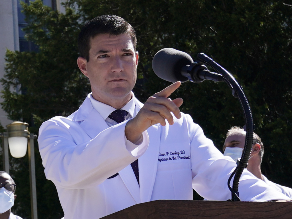 Since stepping into the role in 2018, White House physician Sean Conley has played a key part in the president's medical care. He's believed to be the first doctor of osteopathic medicine to serve in that position.