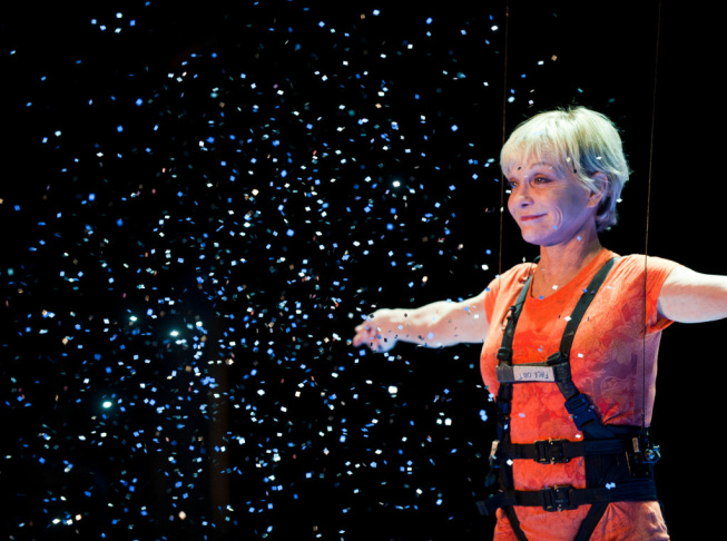 Gymnast and actress Cathy Rigby, who celebrated her 60th birthday last month, is starring in Peter Pan at the Pantages Theatre from January 15th to 27th.