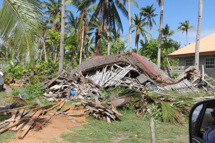 A damaged home on Bantayan Island in the Philippines in November 2013.